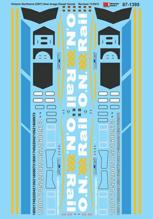 Microscale Decal N  #60-728 N/&W Freight-Autorack 89 Enclosed